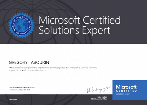 Microsoft® Certified Solutions Expert: Cloud Platform and Infrastructure
